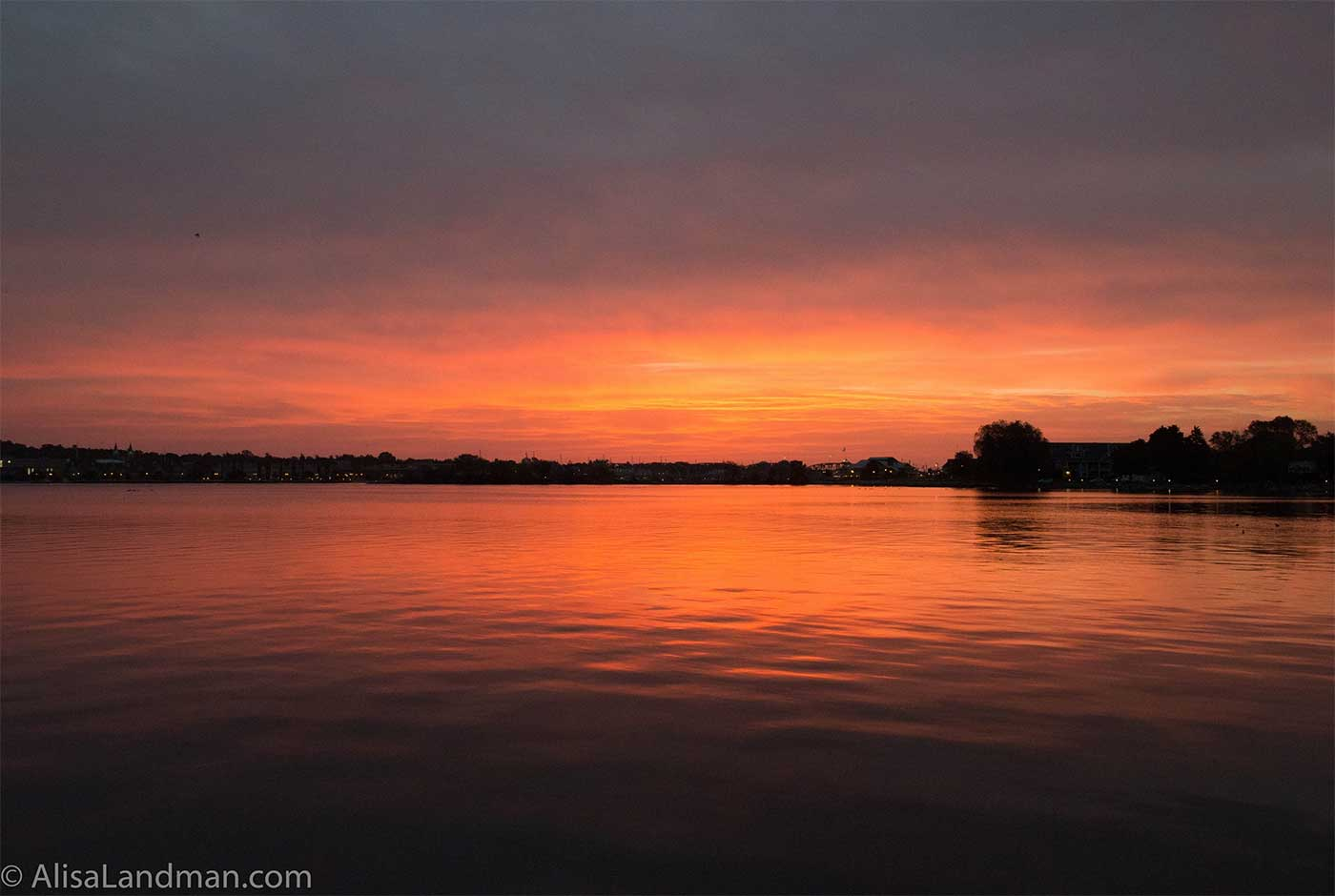 Door County sunrise at the Lily Pad Cottage in Sturgeon Bay, Wisconsin
